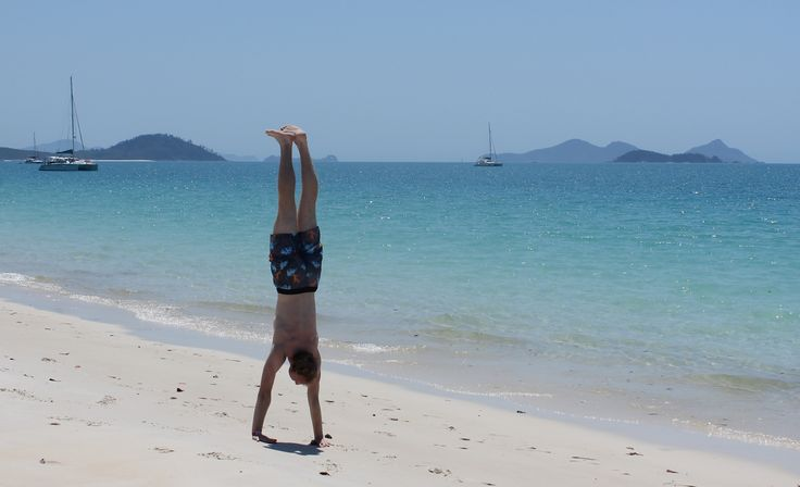 Dorian Aust: Whitehaven Beach was one of my favourite spots in Australia so far. And why not use the wonderful beach for some exercise?