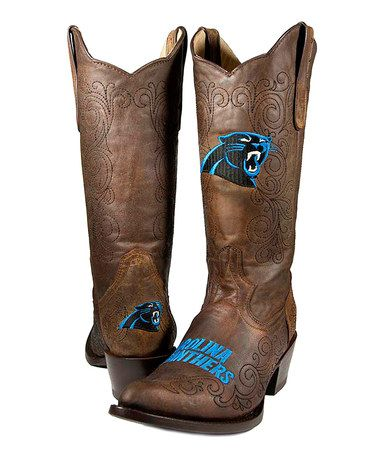 Take a look at this Carolina Panthers Flyover Cowboy Boot - Women by Old Pro Leather Goods Co. on #zulily today!