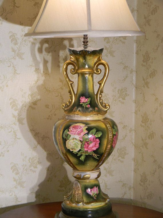 190 best victorian table lamps images on pinterest vintage lamps victorian lamp hand painted victorian table lampsantique aloadofball Choice Image
