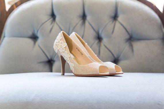 Gold Wedding Shoes Gold Heels Bridal Shoes Gold by walkinonair