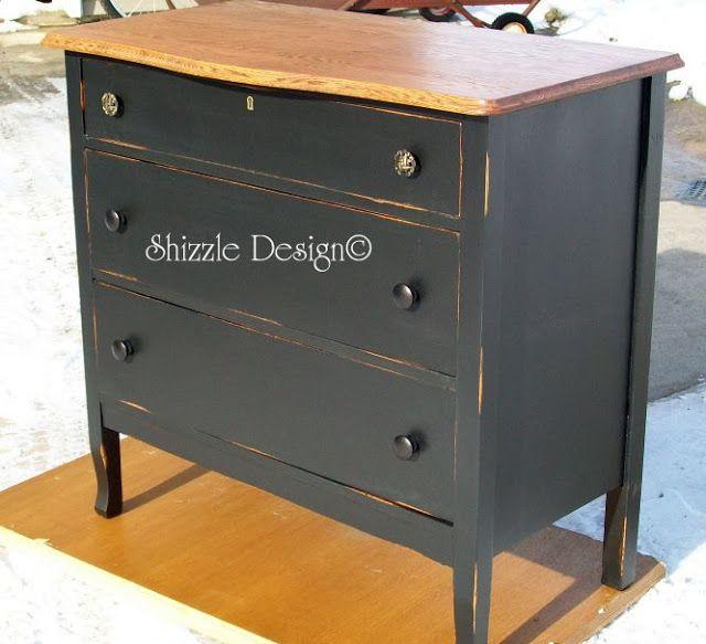 Little Black Dresser Inspired By Pottery Barn