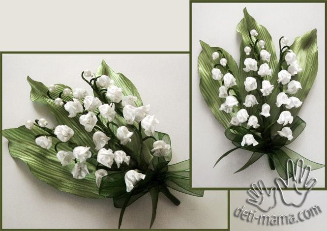 Ribbon Lily of the valley.  Tutorial.