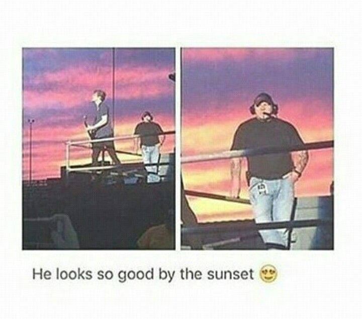 O MY GOD THIS IS THE HERSHEY CONCERT I WAS THERE THEY ALL LOOKED BEAUTIFUL IN THE SUNSET