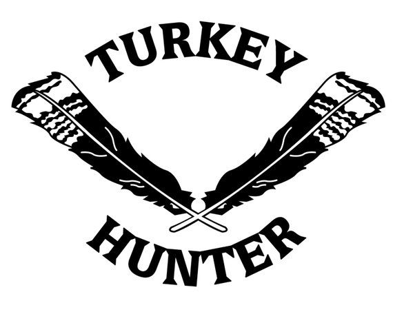 8a4df116d Turkey Hunting Vinyl Decal - Turkey Hunter Sticker - Turkey Feathers ...