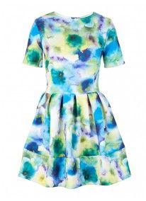 Floral-print Dragon Dress Multi-colour