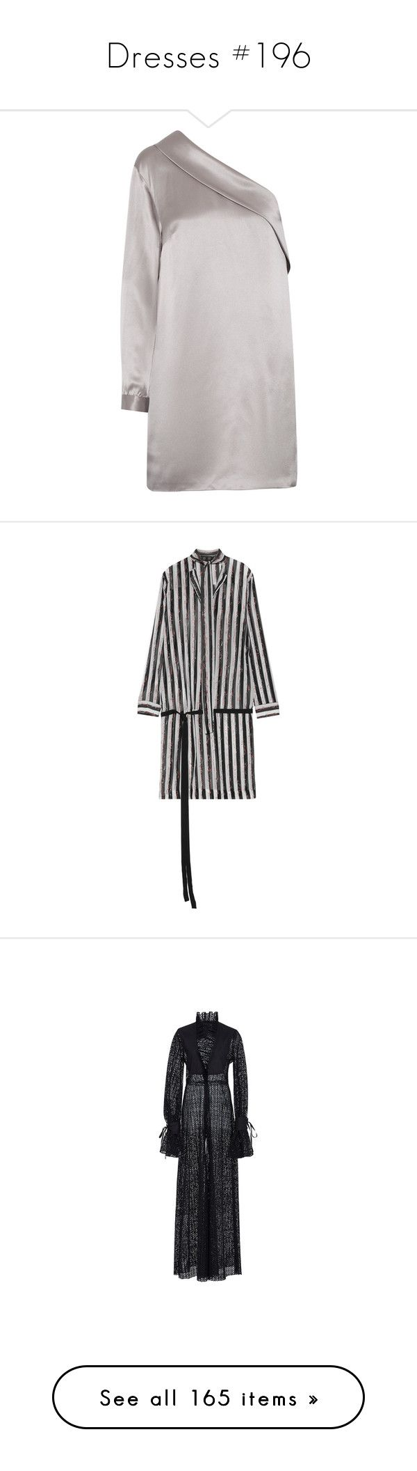 """Dresses #196"" by bliznec ❤ liked on Polyvore featuring dresses, silver, sleeve cocktail dress, drape dress, one sleeve dress, one shoulder dress, long-sleeve mini dress, tops, haider ackermann and stripe top"