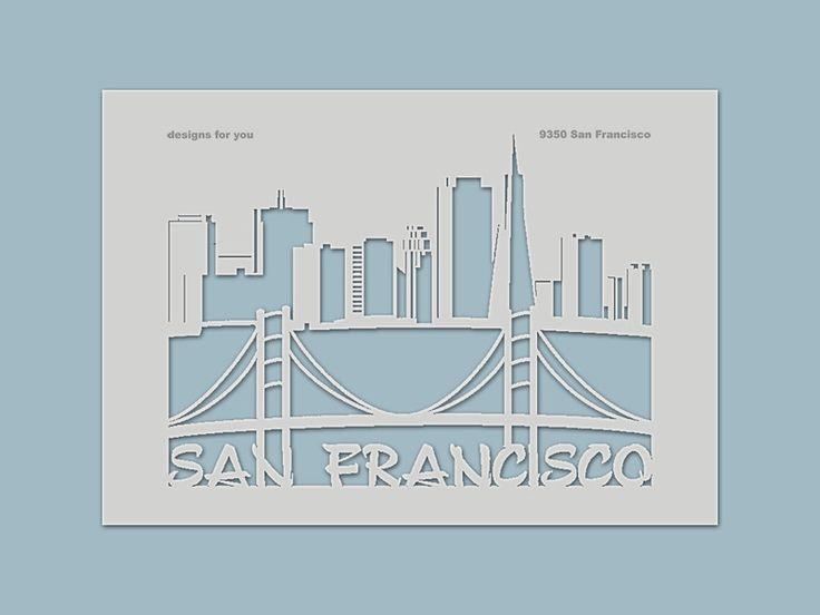 Schablonen - Schablone 9350 San Francisco - ein Designerstück von designs-for-you bei DaWanda