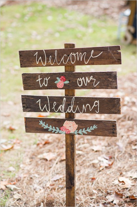 wedding sign @weddingchicks                                                                                                                                                     More