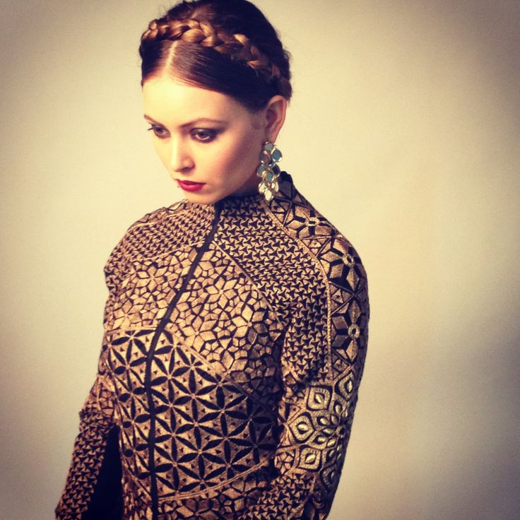 We are more than ready for fall. Can't decide what we love more, Rahul Mishra jacket, Isharya earrings or the chic hairdo.
