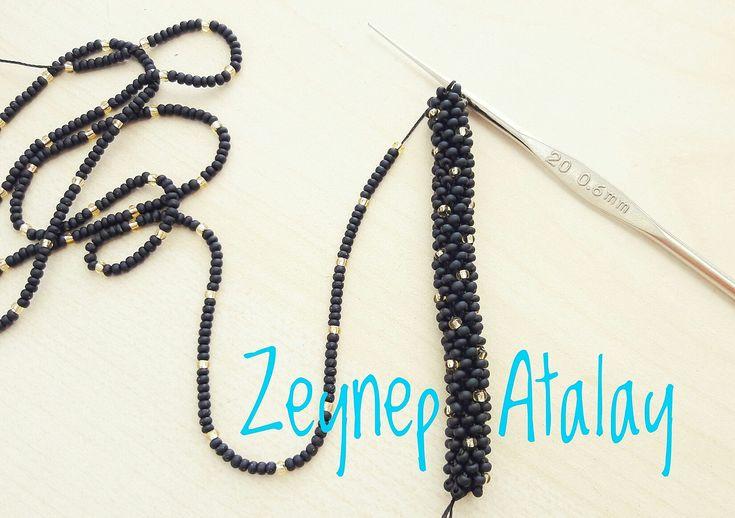 #zeynepatalay. Sandperlen häkeln Armband 6s. Um 6. # Armband   – Zeynep Atalay Bracelet