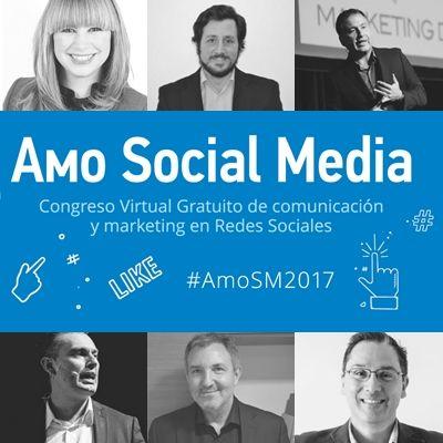 En el congreso virtual gratuito #AmoSM2017 contaremos con la participación de seis expertos los cuales nos actualizarán en temas de comunicaciones y marketing digital.