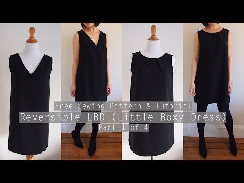 Free Sewing Pattern: Reversible V-neck and Crewneck Shift Dress   Sew in Love