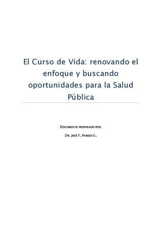 El Curso de Vida: renovando el enfoque y buscando oportunidades para la Salud Pública by Unidad de Niñez y Adolescencia - issuu | Issuu PDF Download