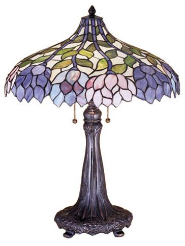 Meyda Lighting 26H Wisteria Tiffany Table Lamp