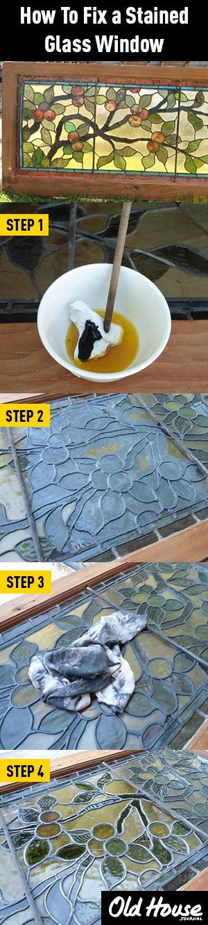 A DIY fix for rattling stained glass windows (Photos: Web Wilson) | Old House Journal DIY Month—30 days of projects sponsored by www.timberlane.com