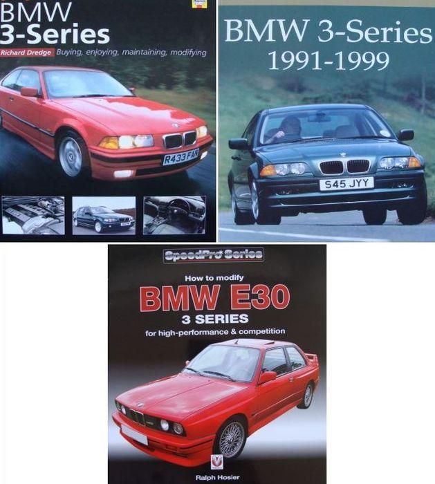 3 boeken over BMW 3-serie  Boek 1BMW 3-serie: kopen genieten van handhaven wijzigen152 pagina 'sHarde kaft27 x 21 cmEngelsMintDe boekomslagen: de evolutie van de 3-serie van de BMW 2002 de eerste 3-serie de E36 en de E46; het ontwerp en de evolutie van de M3 Compact Z3 en Z4; Details voor de 3-serie tuning en wijzigingen met inbegrip van de mogelijkheden van specialist tuners zoals Alpina Hartge AC Schnitzer en Racing Dynamics en advies over DIY…