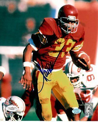 """HOF Marcus Allen Signed 8x10 USC Trojans Photo JSA COA LA Raiders Chiefs . $75.00. Hall of Fame National Football League Running BackMarcus AllenHand Signed Color 8x10"""" PhotographAllen Played For:USC TrojansLos Angeles Raiders 1982-1992Kansas City Chiefs 1993-1997Allen won the Heisman Trophy in 1981, was a six-time Pro-Bowler and was inducted into theCollege Football Hall of Fame in 2000 and the Pro-Football Hall of Fame in 2003.GREAT AUTHENTIC MARCUS ALLEN FOO..."""