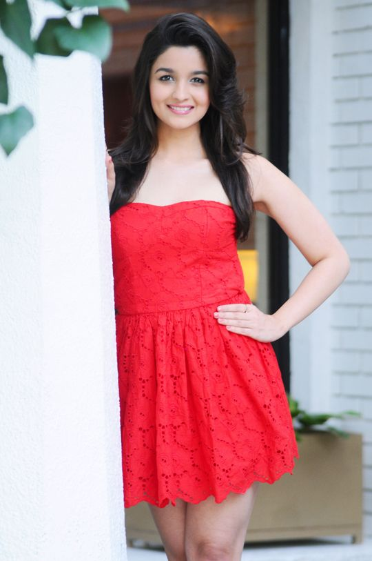 Alia Bhatt In A Small Red Dress