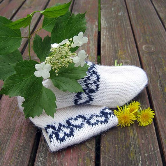 Hand Knitted Women's Wool Socks 41
