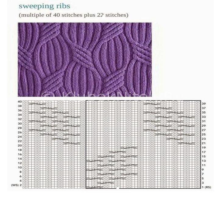 схемы узоров для вязания детских юбок спицами, пример 10