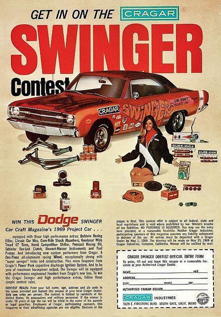 Theoldiebutgoodie 1969 Dodge Dart Swinger Cragar Contest