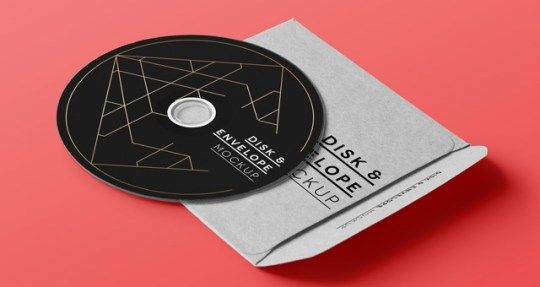 10 Best Free CD Cover PSD Mockup