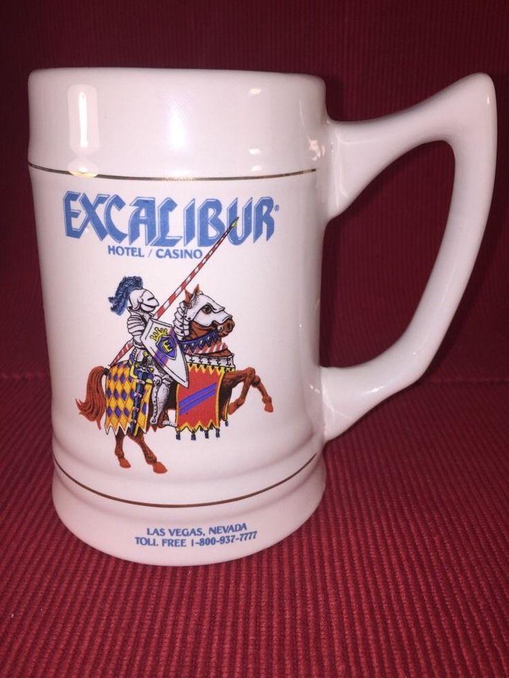 Excalibur Hotel And Casino Jousting Stein Mug Las Vargas