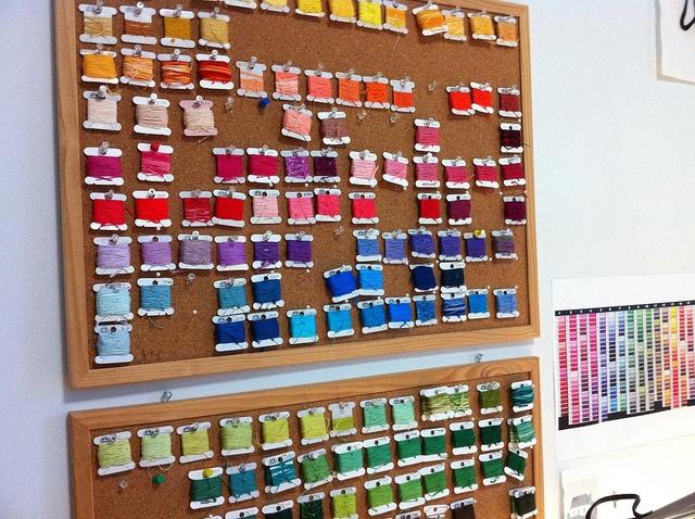 Thread Organizer: Crafts Rooms Offices, Thread Organization, Creative Spaces, Crafts Spaces, Crafty, Rooms Ideas, Crafts Organizations, Crafts Rooms Inspiration, Creative Organizations