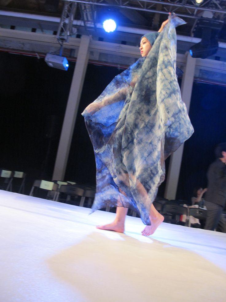 Miyoko Kawahito Japan  indigo wearable art - international designers show Taipei International Forum of Natural Dyes & WEFT Taiwan Oct 2014
