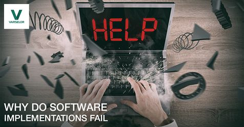 Why do Software Implementations fail ? ou might have picked the right product but if it is not implemented the right way then all that time, effort and money spent was for nothing.  #ERPSoftware #CloudErp #CRMSoftware #HRMS #BIsoftware #Dubai #Varselor