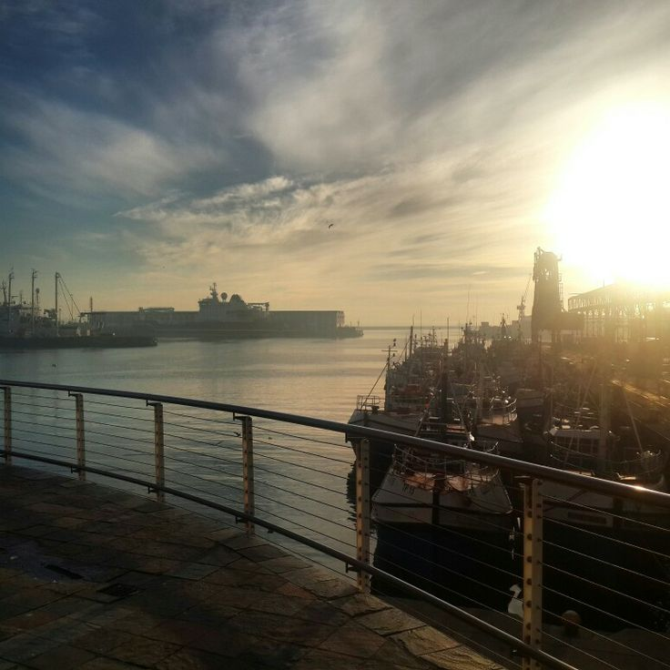 Sunrise at Cape Town harbour #SouthAfrica
