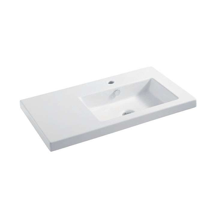 QUADRA NEU WALL/VANITY BASIN 800 X 450 RH BOWL 1TH