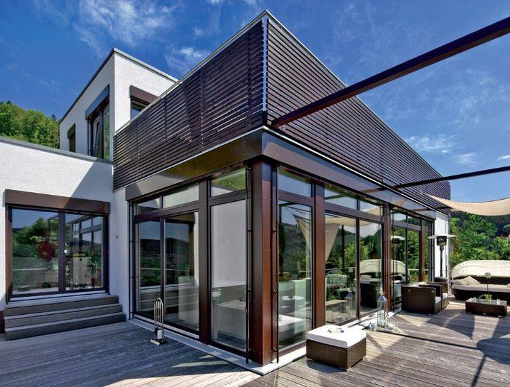Hersteller Regnauer Fertighaus mit großer Dachterrasse