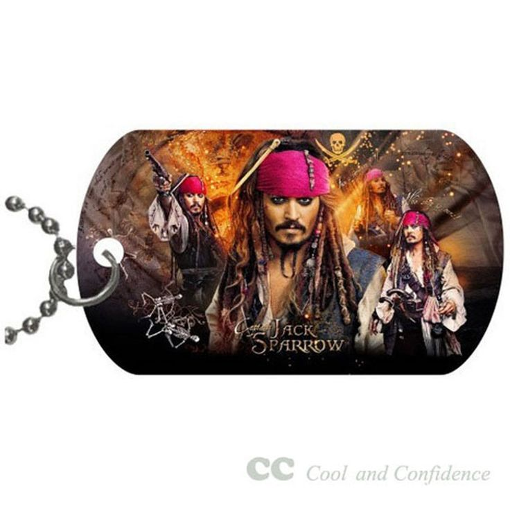 Custom Jack Sparrow Pet Dog Tag pendant necklace Chain #DIY