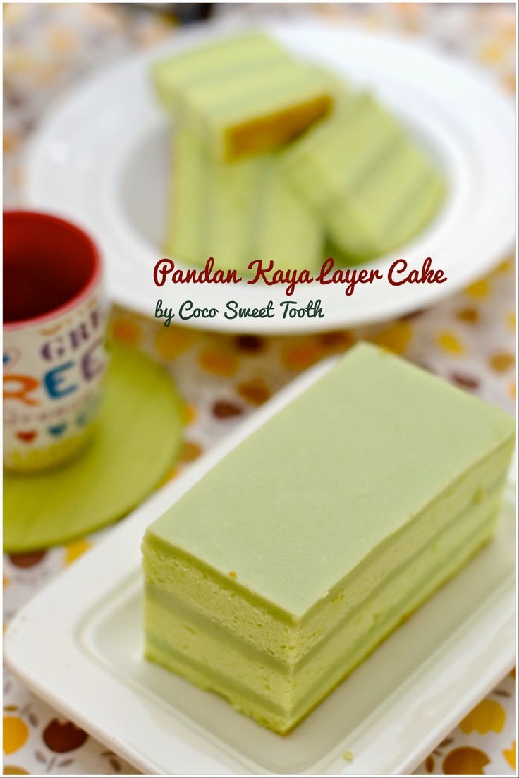 Coco's Sweet Tooth ......The Furry Bakers: Pandan Kaya Layer Cake