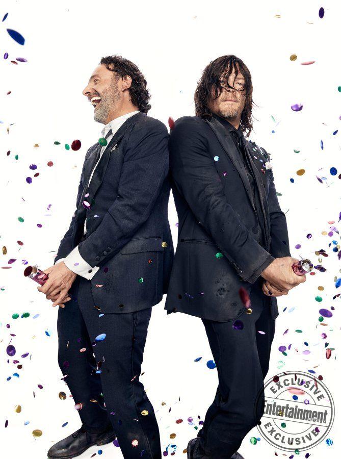 We've got the stars celebrating 100 episodes — in true Walking Dead fashion.