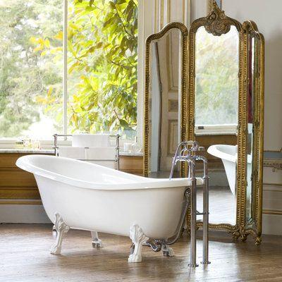 Les 25 meilleures id es concernant salle de bains avec baignoire pattes sur - Baignoire pied de lion castorama ...