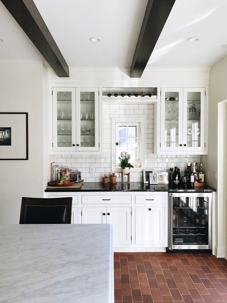 A 1920s Home Built With Charming Architectural Details | Design*Sponge.  Kitchen Wet Bar1920s ...