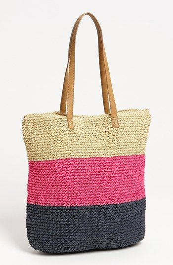 Plain and simple for summer. Straw Studios Crochet Stripe Tote available at Nordstrom