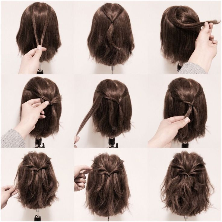 Cute wispy hair tutorial. Medium length