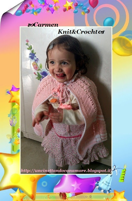 Karol and her crochet cape