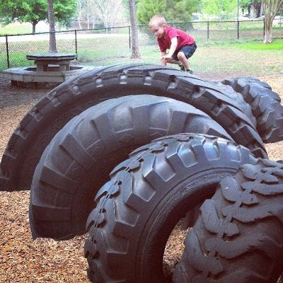 Climbing Structures: Tractor Tires | Blog: Little Moments to Embrace