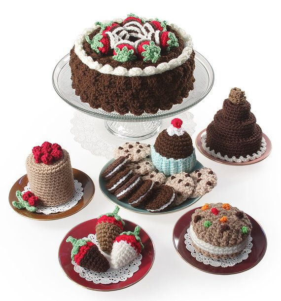 Crochet Chocolate Sweets and Treats pattern pdf von gourmetcrochet