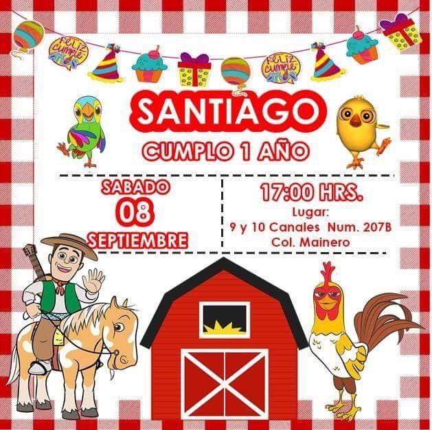 Invitación Fiesta De La Granja De Zenón Alejandro Cumple 1