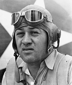 "Gregory ""Pappy"" Boyington of ""Black Sheep Squadron"" VMF 214"