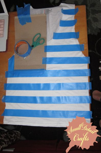 No Sew DIY Fourth of July Spray Paint Tank Top Making it right Meow!