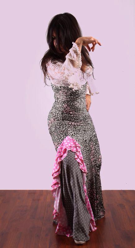 """Falda baile flamenco de La Tate , """" línea romántica """"."""