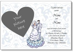 Charmant Printable Wedding Invitations, Free Online Wedding Invitation Templates To  Print With Your Photo, Engagement Photo, Or Any Picture