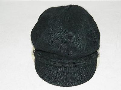 Ralph Lauren Women's Merino Wool Newsboy / Fisherman Hat Black NWOT One Size