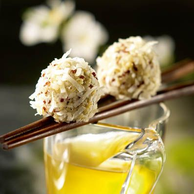 Bouchées de Quinoa Gourmand au jasmin et noix de coco cuisinées avec du Quinoa Gourmand TIPIAK. Pour 4 à 6 personnes -  Préparation : 25 min - Cuisson : 17 min.